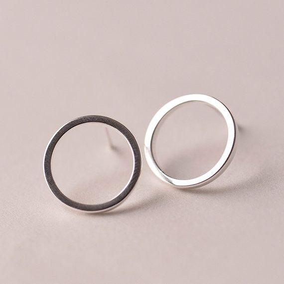 cirkel oorbellen, cirkel oorknopjes, ronde  van Superarmband op DaWanda.com