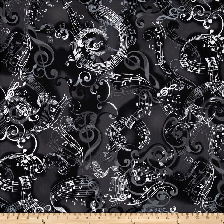 Kanvas Concerto Mozarts Mind Black from @fabricdotcom  Designed by Maria Kalinowski for Kanvas, in association with Benartex, this music themed cotton print fabric is perfect for quilting, apparel, crafts, and home decor items. Colors include black, white, and grey.