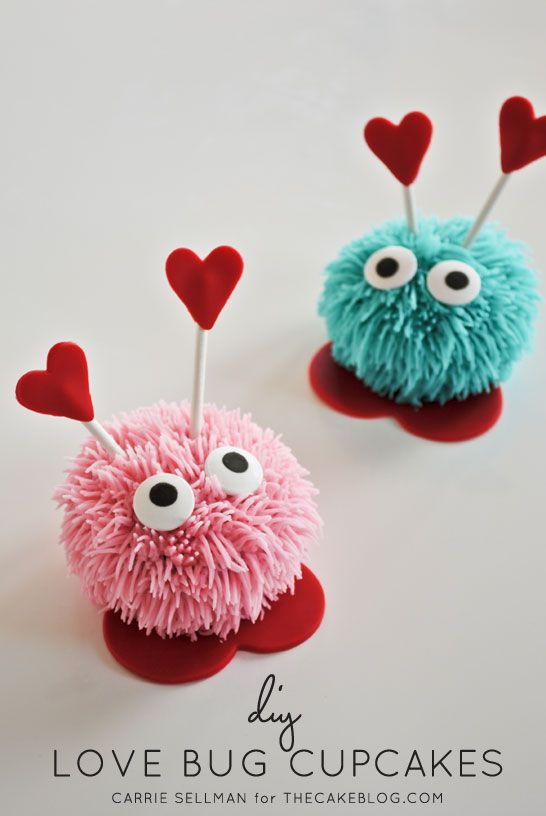 DIY Love Bug Cupcakes