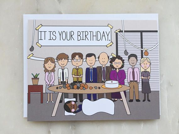 The Office Birthday Card - The Office TV Show Card, Dunder ...