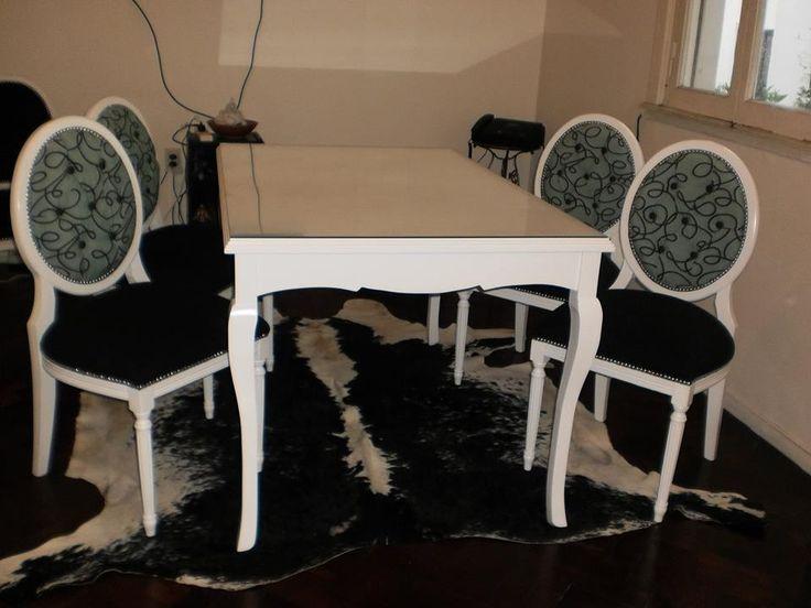 Juego de comedor madera de guindo laqueado poliuret nico for Juego de comedor de madera