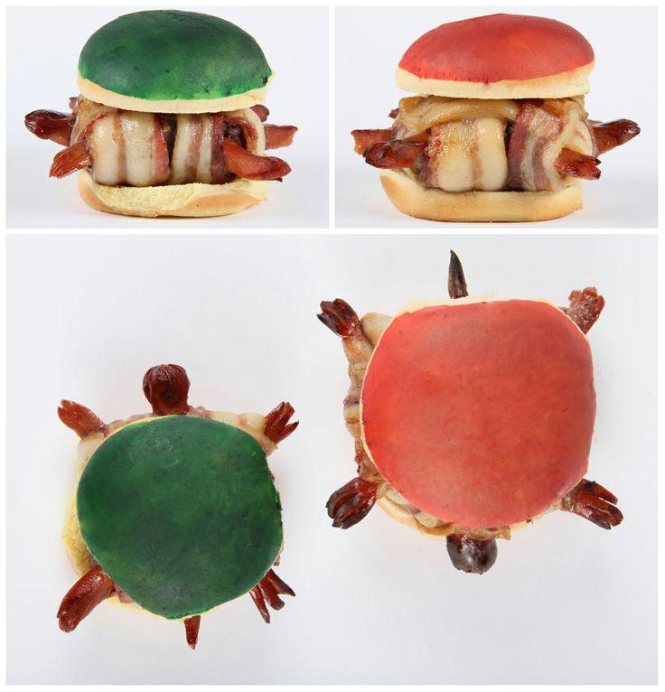 Koopa Troopa Bacon Turtle Burgers #Mario #Nintendo #recipe #meat #recipe #gaming