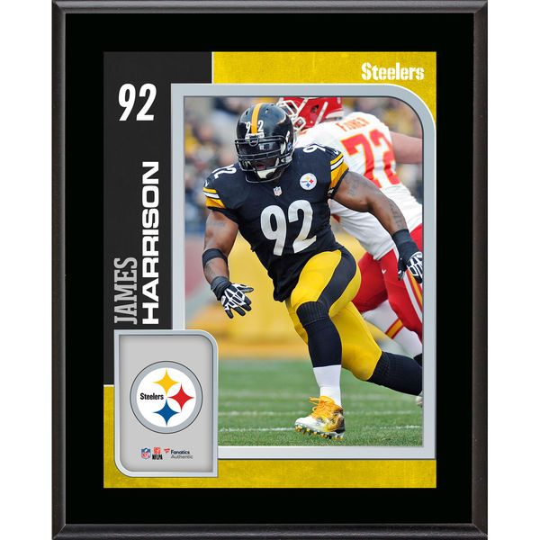 """James Harrison Pittsburgh Steelers Fanatics Authentic 10.5"""" x 13"""" Sublimated Player Plaque - - $29.99"""