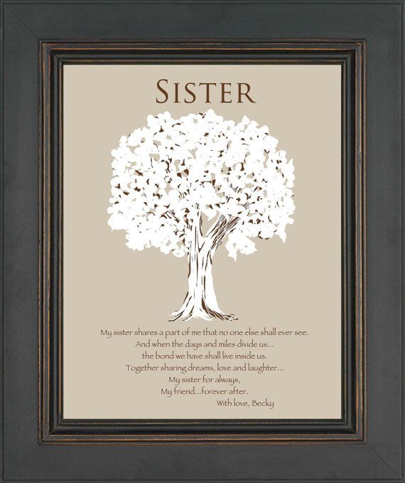 SISTER Gift -Personalized Gift for Sister -Wedding Gift for Sister- Sister Birthday Gift - Christmas Gift - Words can be customized