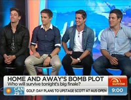 The Bad Boys of Summer Bay join Sunrise to talk about the season finale of Home and Away which will leave everyone shocked.