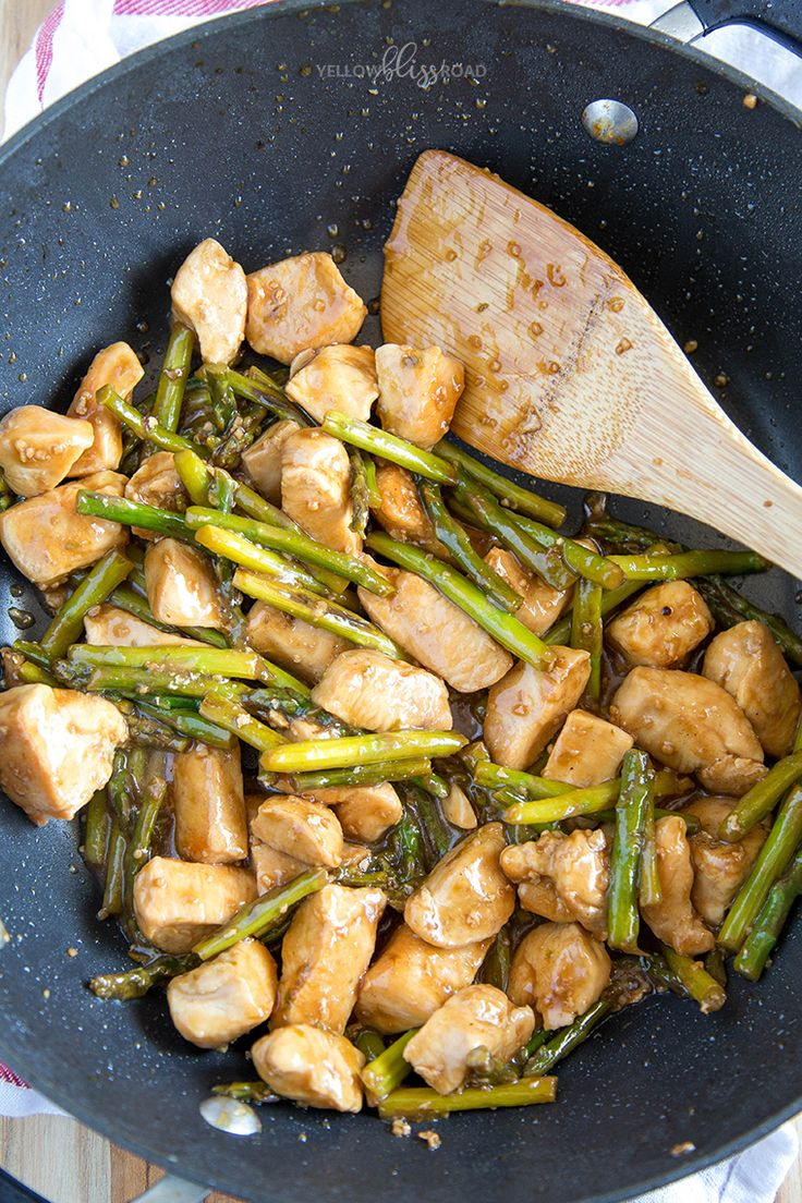 This Chicken and Asparagus Stir Fry is super quick and easy, and super delicious. With big chunks of chicken and asparagus in a tangy sauce, this healthy recipe will quickly become a favorite for lunch or dinner. Being that it's asparagus season, there's always asparagus on sale. Sometimes I get a little greedy and grab …