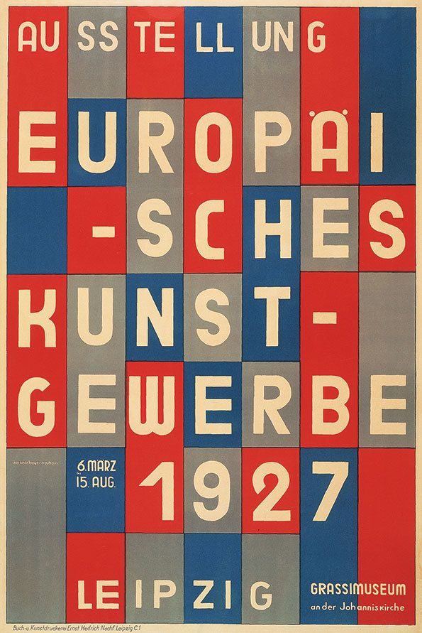 Herbert Bayer poster for European Arts and Crafts