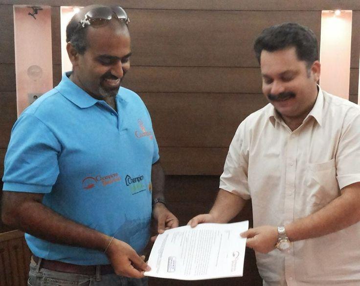 Subhakar Rao With Goa Tourism Development Corporation Chairman, Mr. Cabral.