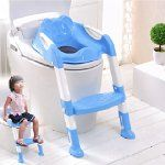 Baby Toddler Potty Training Toilet Ladder Seat Steps Assistant Potty For Toddler Child Toilet Trainer (Blue)
