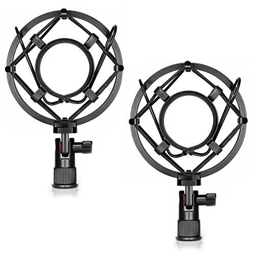 From 9.99 Neewer 2 Pack Black Microphone Shock Mounts Anti Vibration Suspension High Isolation For Studio Condenser Mic Ideal For Radio Broadcasting Studio Voice-over Sound Studio And Recording