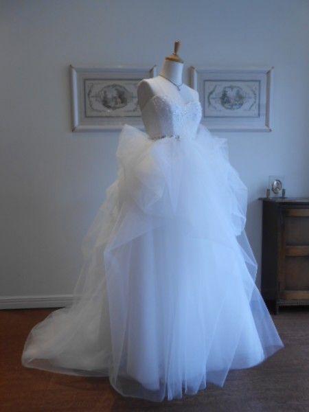 グランマニエのウェディングドレス|チュール|2WAY