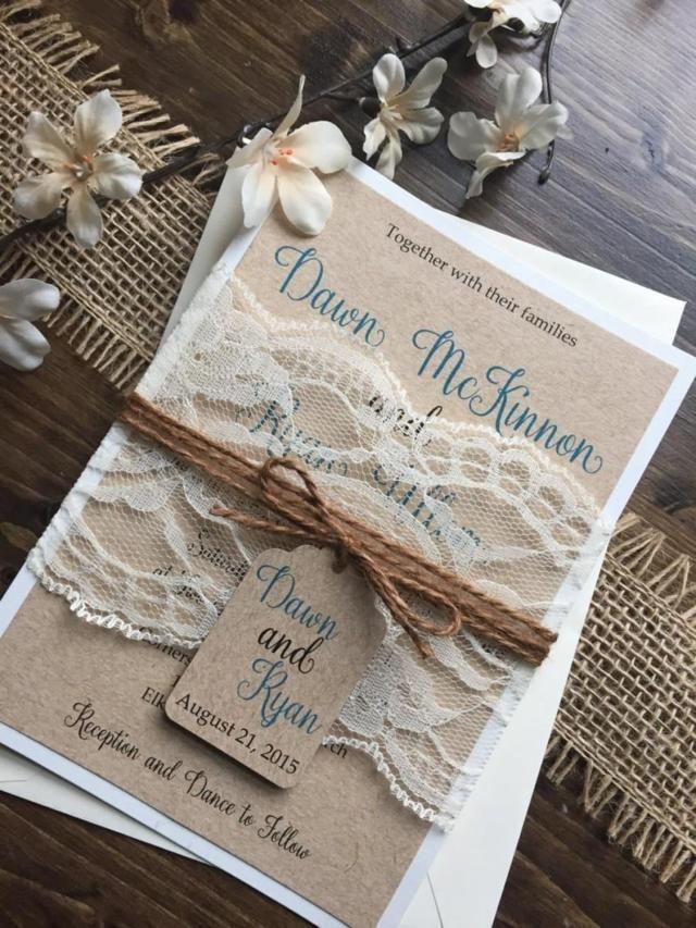 Rustic Vintage Wedding Invitations 26