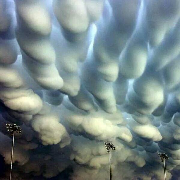 Mammatus clouds over Nebraska. How crazy amazing are these!?