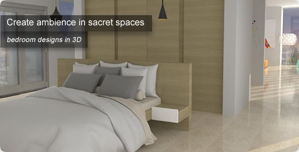 Create ambience in sacret spaces: Bedroom designs in 3D