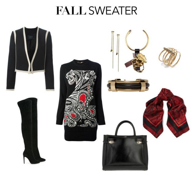 """Fall Sweater Dress"" by samyangelo on Polyvore featuring moda, Roberto Cavalli, Gianvito Rossi, Maria Dorai Raj, Isabel Marant, Lanvin, Tom Ford, Class Roberto Cavalli y Judith Jack"