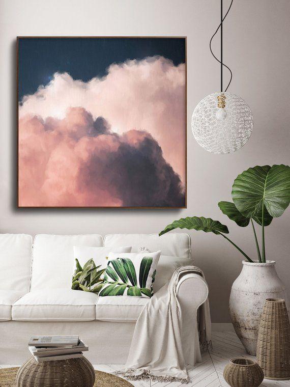 Cloud Painting, Original abstract art, Modern art, Cloud art, Landscape painting, Contemporary art, trending art – READY TO HANG canvas art