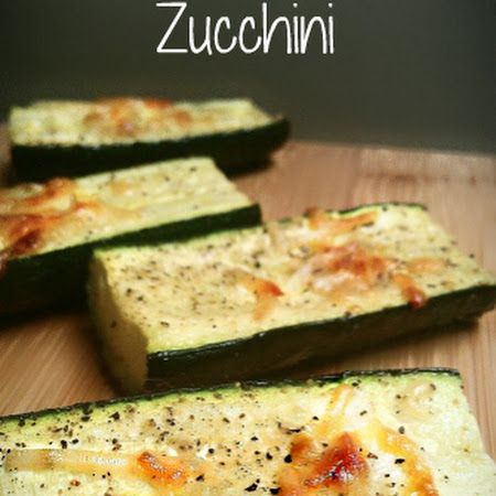 Heat oven to 375. Wash and slice zucchini. Drizzle with a little olive oil. Then place zucchini slices on a cookie sheet in a single layer. Sprinkle with salt, pepper, parmesan cheese, and garlic powder. Roast uncovered in oven for 10-15 minutes or until tender.