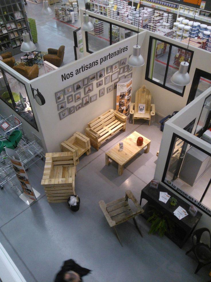 Cr ation mobilier de jardin partir de palettes leroy merlin dinard pleurtuit terrazas - Demonte palette leroy merlin ...
