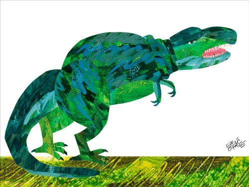 Eric Carle - Dinosaur Canvas Wall Art