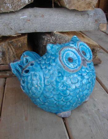 Owl Blue Planter