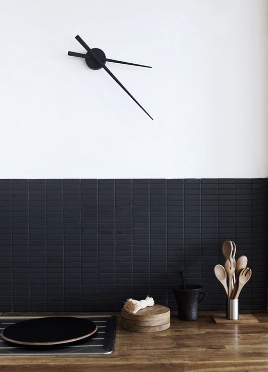 Love the tile shape. Black may be too dark for our kitchen?