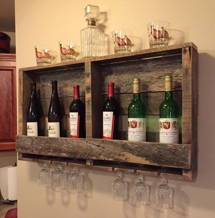Rustic Wood Pallet Furniture Outdoor Furniture and Decor Wine Rack Display  by BandVRusticDesigns on Etsy https - 84 Best Rustic Home Decor Images On Pinterest
