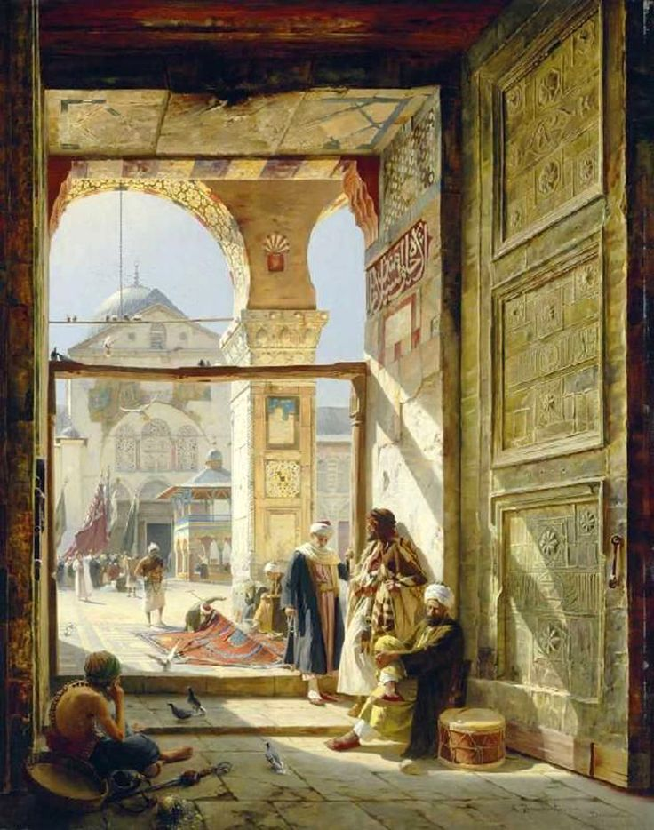Gustav Bauernfeind (German, 1848-1904). The Gate Of the Great Umayyad Mosque, Damascus,1890