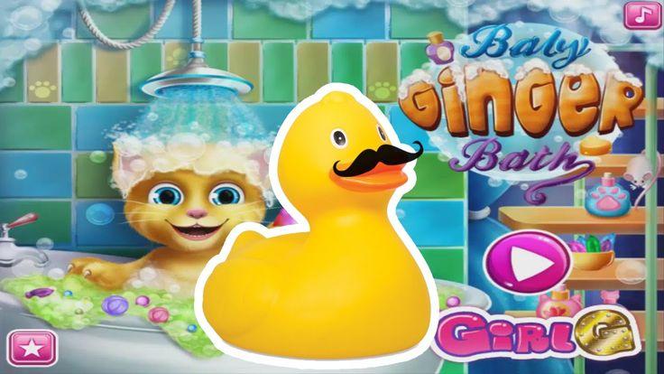 Talking Ginger Game Talking Ginger Bath Girls Game