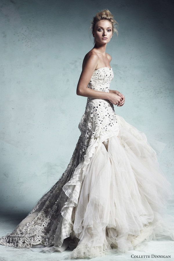 """collette dinnigan 2013 bridal couture wedding dress crystal queen  I dont really dig the """"poofy"""" dress-- but wow. this is sick!!"""