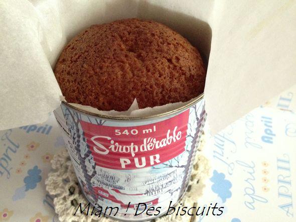 Gâteau à l'érable cuit dans une conserve - Miam ! Des biscuits