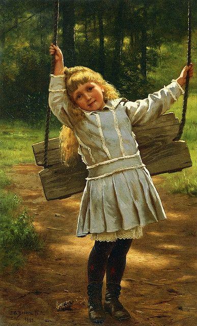 Painting by John George Brown