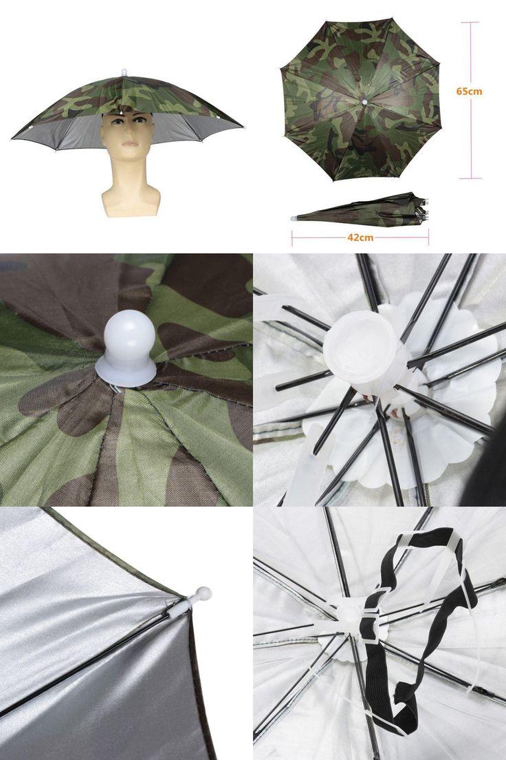 [Visit to Buy] ropa de pesca sunscreen fishing suns anti uv daiva Elastic Foldable Headband  Sun Rain Umbrella Hat Cap Fishing Hiking #Advertisement