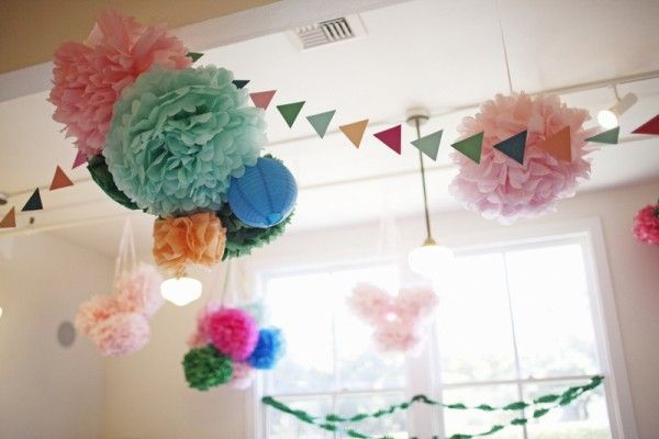 Cute poms and garlands