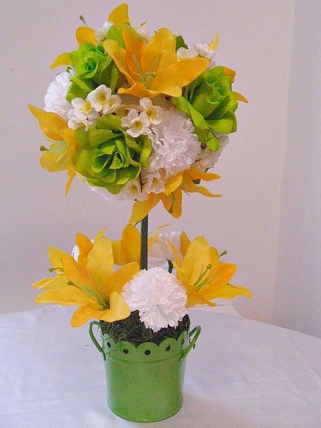 topiary silk flower arrangement artificial by