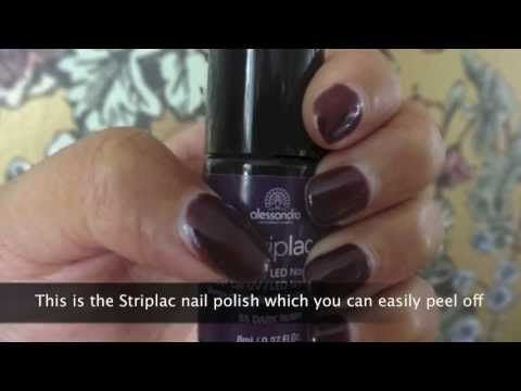 How to peel off #Alessandro #Striplac peel gel nail polish