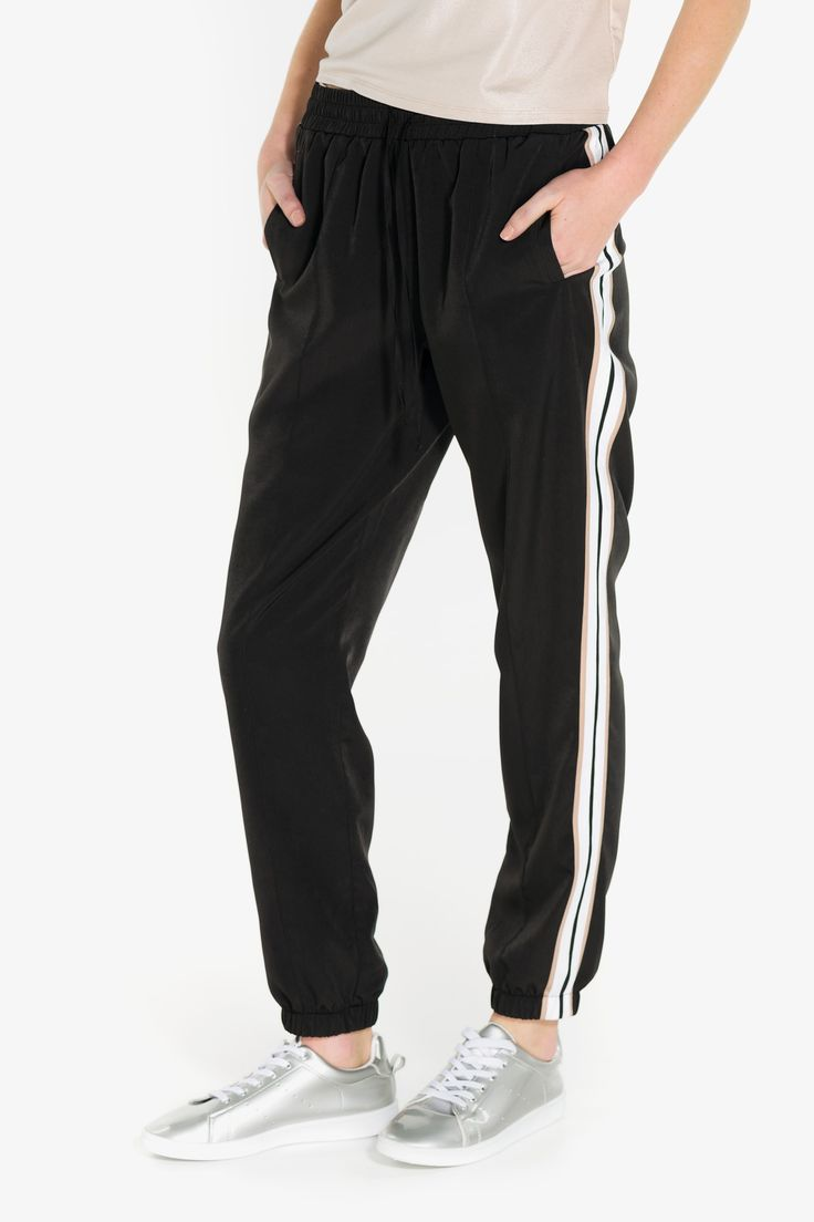 Classic striped joggers