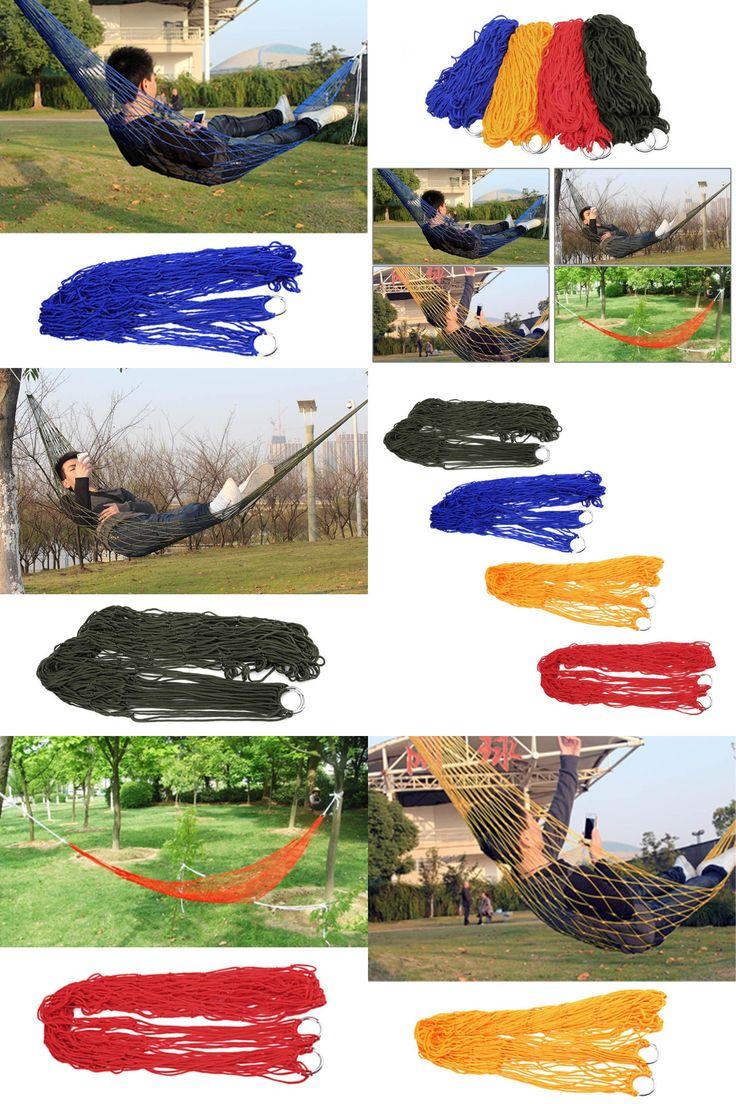 [Visit to Buy] 1Pc sleeping hammock hamaca hamac Portable Garden Outdoor Camping Travel furniture Mesh Hammock swing Sleeping Bed Hot selling #Advertisement