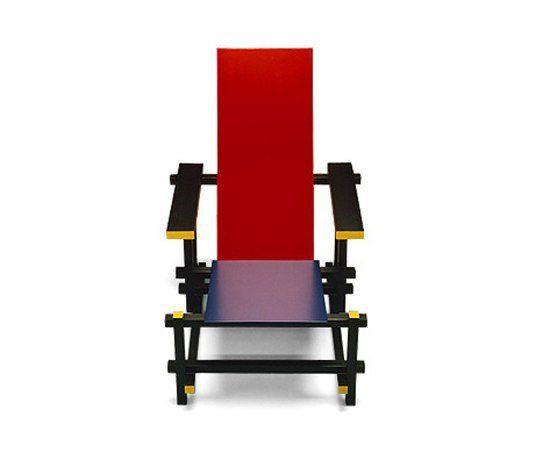 17 meilleures images propos de icones du design objets - La chaise rouge et bleue ...