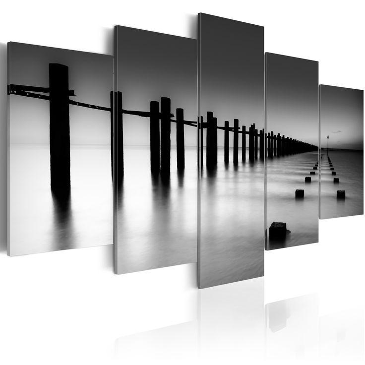 Obraz morze #sea #art #natur #view #black #white #art #design