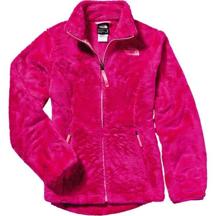 The North Face Girls' Osolita Fleece Jacket, Size: Large, Luminous Pink/Gem Pink