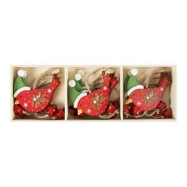 Whimsical Birds with Hats Hanging Christmas Decoration
