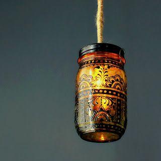 A Bit of Bees Knees: DIY Puffy Paint Lanterns