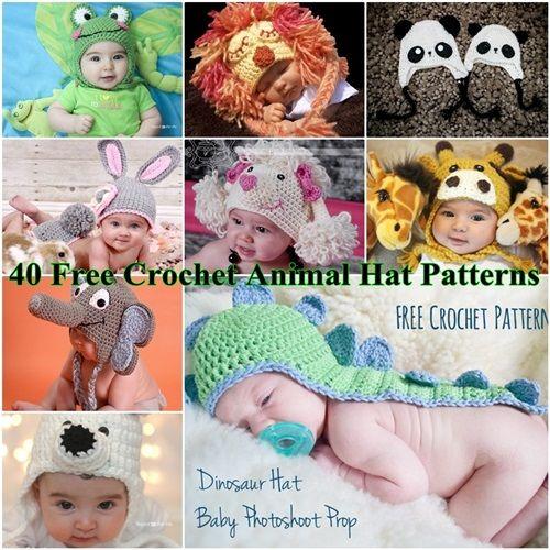 40 Free Crochet Animal Hat Patterns