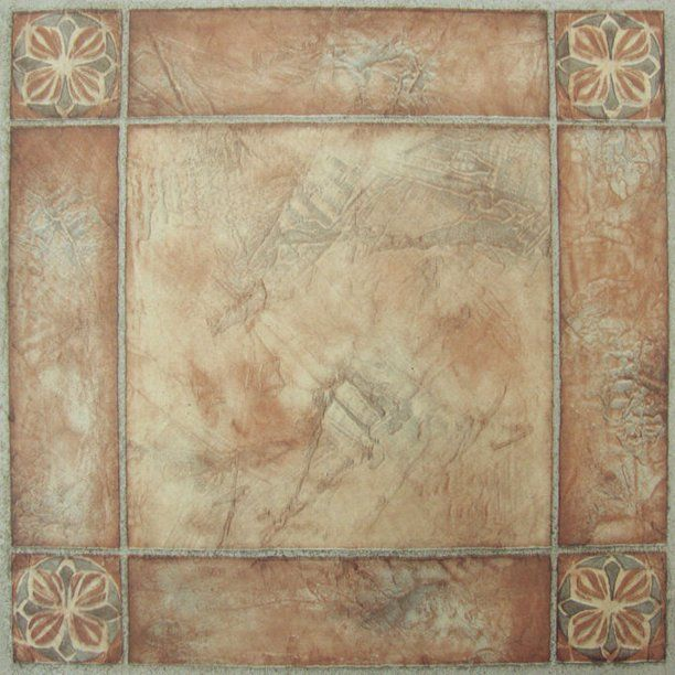 Achim Nexus Self Adhesive Vinyl Floor Tile 20 Tiles 20 Sq Ft 12 X 12 Spanish Rose Walmart Com In 2020 Vinyl Flooring Vinyl Tiles Tile Floor