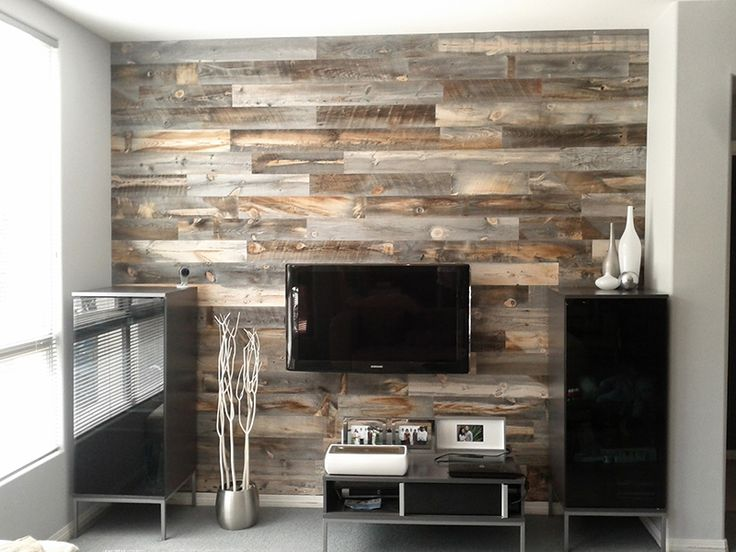 """these are peel and stick real wood planks!  as a carpenter who has recreated this look the """"real way"""", it's nice to know there's a shortcut.  made by Stikwood"""