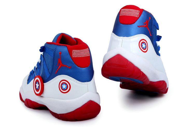 Jordan 11 Captain America  Shoe closet  Pinterest  Jordan 11