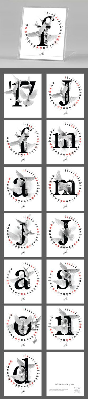 2016 2017 Calendar Dove calendar Pigeon by JAnoveltyDeSign on Etsy