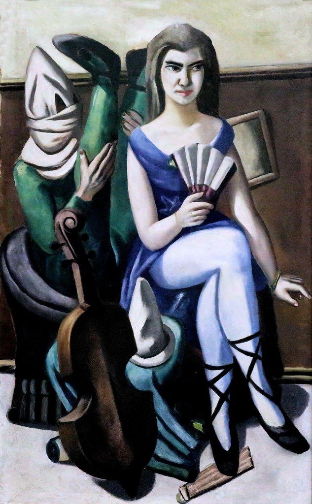 Max Beckmann. 1884-1950.  Pierrette et le Clown. 1925.  Mannheim. Kunsthalle.  Max Beckmann. 1884-1950. Pierrette and the Clown. 1925. Mannheim. Kunsthalle.