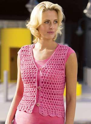 free easy one piece crochet vest patterns | CROCHETED VEST PATTERN - Product Details