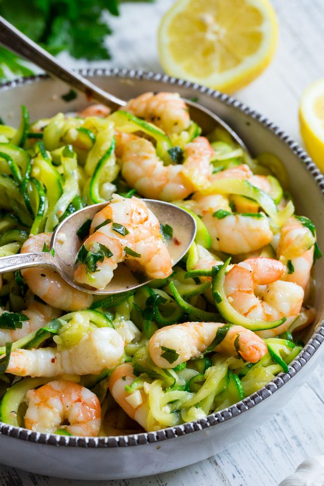 Paleo Shrimp Scampi with Zucchini Noodles (Whole30)